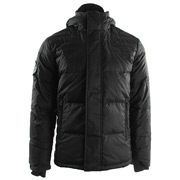 Varsity Down Jacket Black