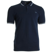 Twin Tipped Fred Perry Shirt Carbon Blue
