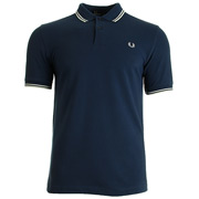 Twin Tipped Fred Perry Shirt Service Blue