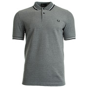 Twin Tipped Fred Perry Shirt Dark Carbon