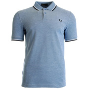 Twin Tipped Fred Perry Shirt Blue Prince