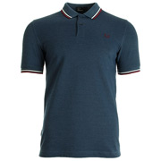 Twin Tipped Fred Perry Shirt Blue Carbon