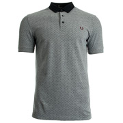 Polka Dot Oxford Pique shirt Dark Carbon
