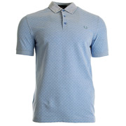 Polka Dot Oxford Pique Shirt Light Smoke