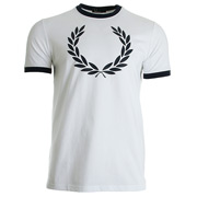 Fred Perry Laurel Wreath Ringer Tee shirt White