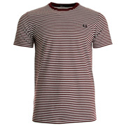 Fred Perry Fine Stripe Tee-Shirt Rosewood