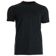 Fred Perry Square Print Tee-Shirt Navy
