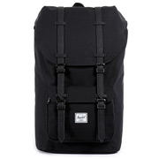 Herschel Little America Mid Black Synth Lth
