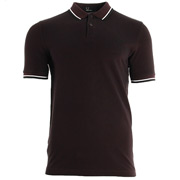 Slim Fit Twin Tipped Shirt Mahogany