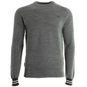 Textured Yarn Pique Crew Neck