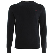 Oxford Texture Crew Neck