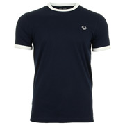 Fred Perry Ringer T Shirt Carbon Blue