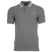 Twin Tipped Fred Perry Shirt Gris Noir