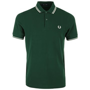 Twin Tipped Fred Perry Shirt Ivy Snow White