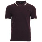 Twin Tipped Fred Perry Shirt Brumble Snow White