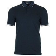 Twin Tipped Fred Perry Shirt Service Blue Black Oxford