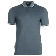 Twin Tipped Fred Perry Shirt Glacier Carbon Oxford