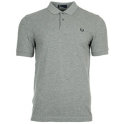Plain Fred Perry Shirt Steel Marl