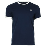 Taped Ringer T-shirt Carbon Blue