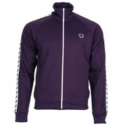 Taped Track Jacket Black Currant