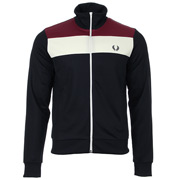 Fred Perry Colour Block Track Jacket Navy
