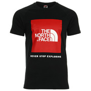 The North Face M SS Raglan Red Box Tee Black