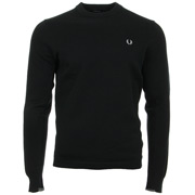 Twin Tipped Crew Neck Jumper Black