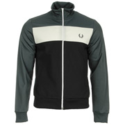 Colour Block Track Jacket Charcoal Solid