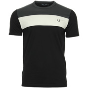 Colour Block Panel T-shirt Black