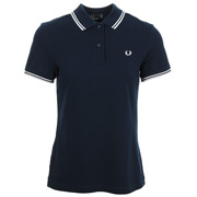 Twin Tipped Fred Perry Shirt French Navy White