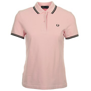 Twin Tipped Fred Perry Shirt Pink