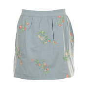 GANT Embroidered Chambray Skirt