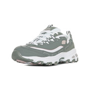 Skechers D'Lites Biggest Fan Gray White