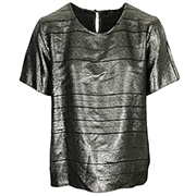 PS by Paul Smith Top col rond ample lamé Swirl