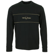 Fred Perry Embroidered Panel LS T-Shirt