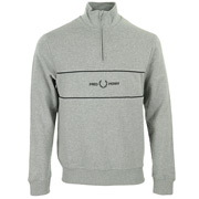 Fred Perry Embroidered Half Zip Sweatshirt