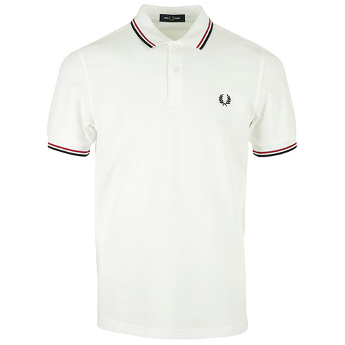 Fred Perry Twin Tipped Shirt - Blanc