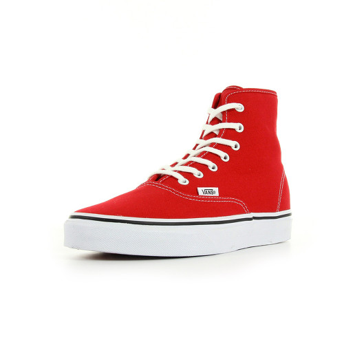 VANS : Authentic Hi rouge