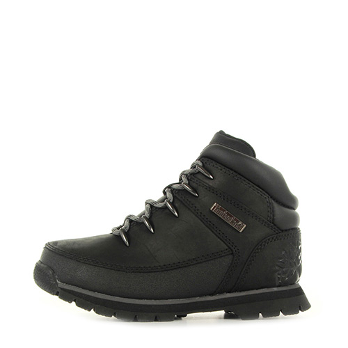 Timberland Euro Sprint Black Smooth with Grey.