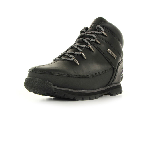 Timberland Euro Sprint Black Smooth with Grey