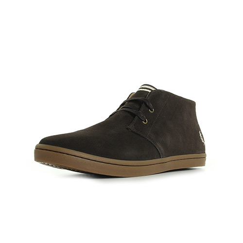 Fred Perry Byron Mid Suede Dark Chocolate