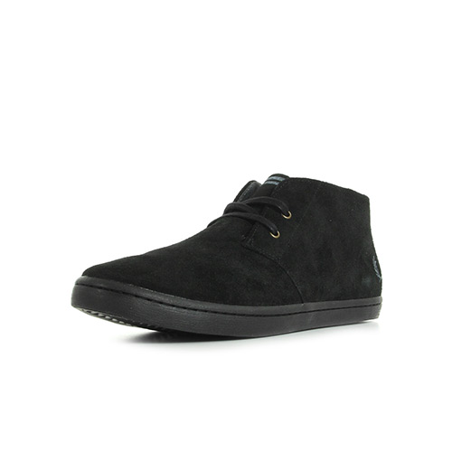 Fred Perry Byron Mid Suede Black