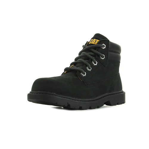 Caterpillar Lace Up Black