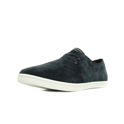 Fred Perry Byron Low Suede Navy Falcon Grey