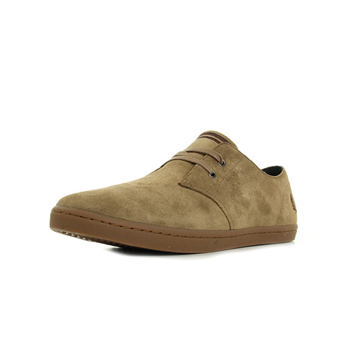 Fred Perry Byron Low Suede Almond Brown Stone