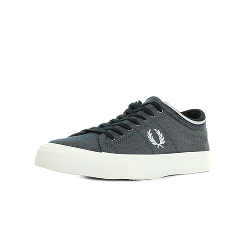 Fred Perry Kendrick Tipped Cuff Chambray Navy
