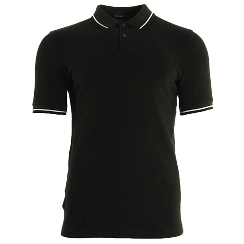 Fred Perry Slim Fit Tipped Shirt Hunt Green
