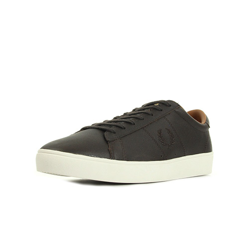 Fred Perry Spencer Tumbled Leather Dark Chocolate