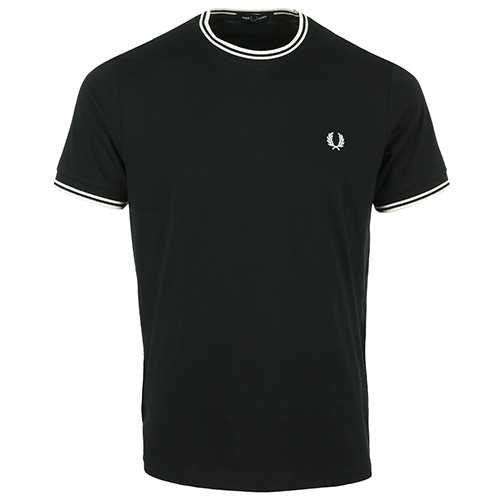 Fred Perry Twin Tipped T Shirt - Noir