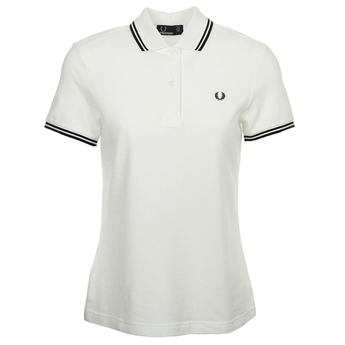 Fred Perry Twin Tipped Fred Perry Shirt White Black